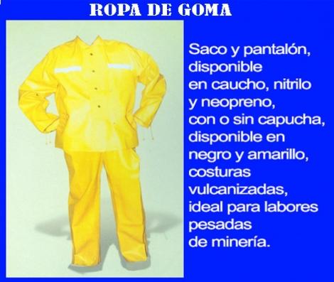 ROPA DE GOMA